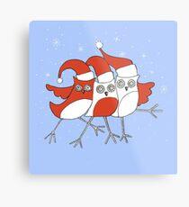 Christmas Birds Metal Print