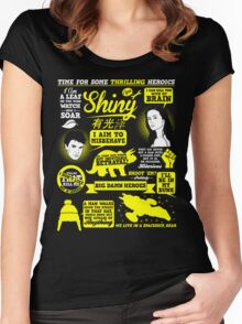 Shiny Quotes Women's Fitted Scoop T-Shirt
