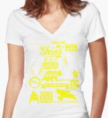 Shiny Quotes Women's Fitted V-Neck T-Shirt