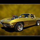 Golden Corvette by Keith Hawley