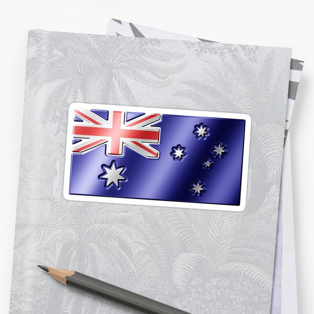 Australian Flag - Australia - Metallic by graphix
