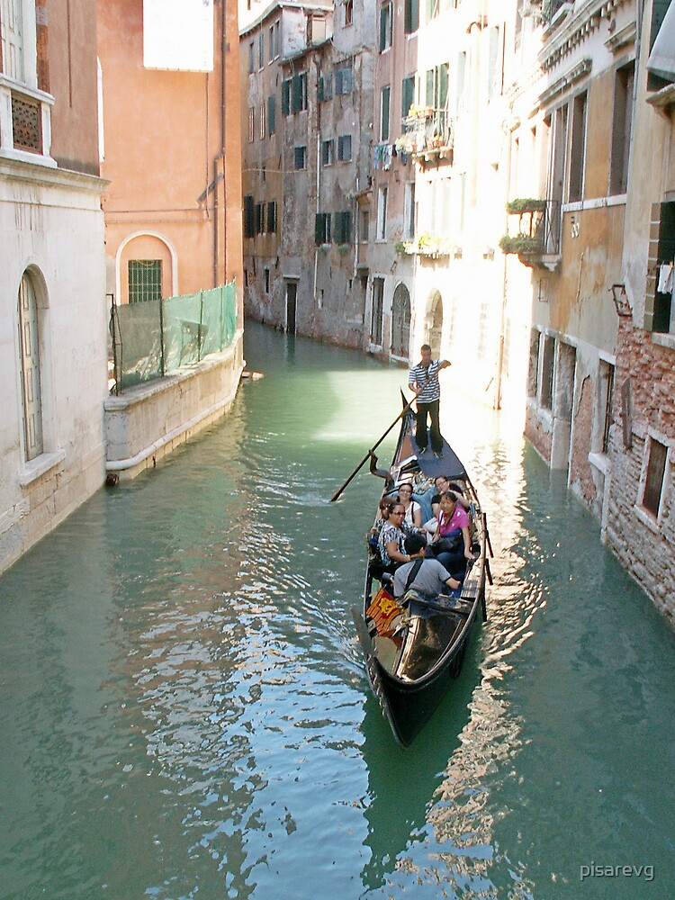Gondola on the canal of Venice by pisarevg