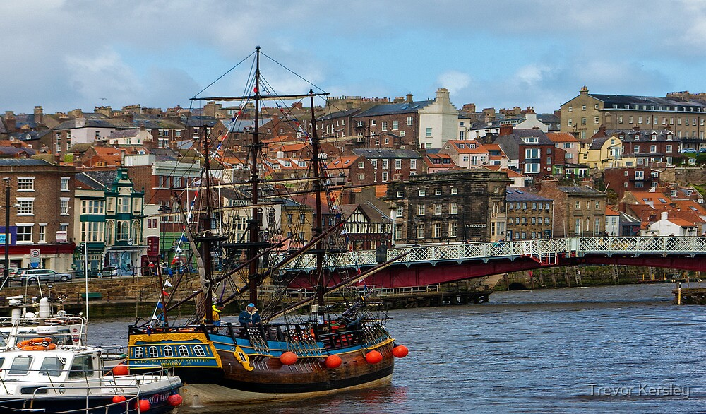 The Bark Endeavour Whitby by Trevor Kersley