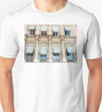 Blue stripes and eight windows T-Shirt