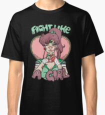 Sailor Moon- Fight Like a Girl (Sailor Jupiter) Classic T-Shirt