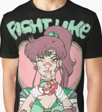 Sailor Moon- Fight Like a Girl (Sailor Jupiter) Graphic T-Shirt