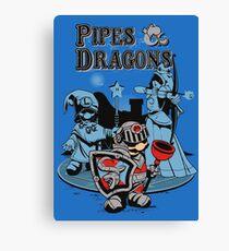 PIPES & DRAGONS Canvas Print