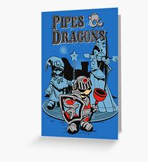 PIPES & DRAGONS Greeting Card
