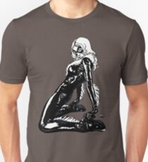 Black Cat in Shadow Unisex T-Shirt