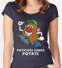 Potatoes Gonna Potate Women's Fitted Scoop T-Shirt