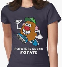 Potatoes Gonna Potate Women's Fitted T-Shirt