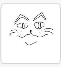 smirking cat Sticker