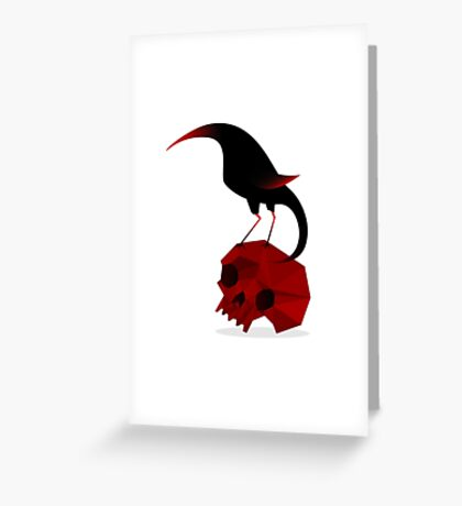 Bird and Skull Greeting Card