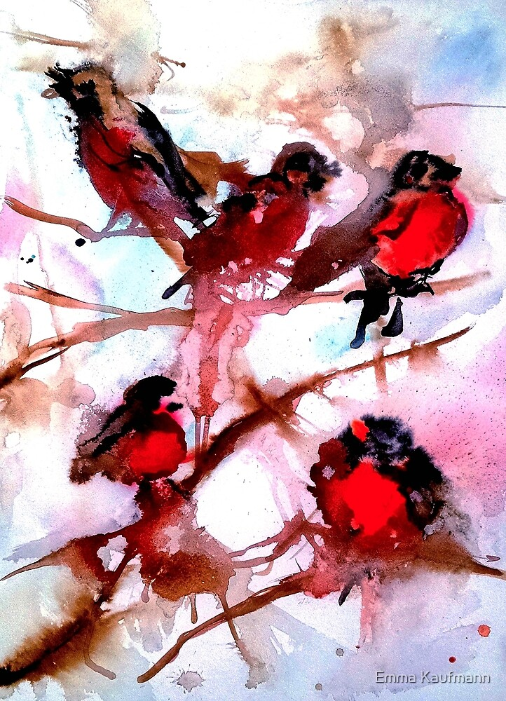 Robins in the Snow by Emma Kaufmann