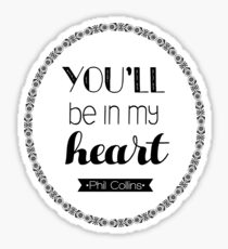 Phil Collins Quote Print Sticker
