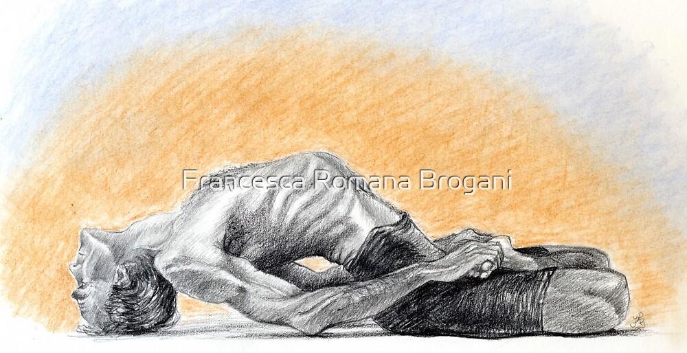 Mathsyasana, Yoga lovers by Francesca Romana Brogani