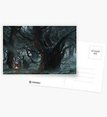 Halloween's Magic Caldron Postcards