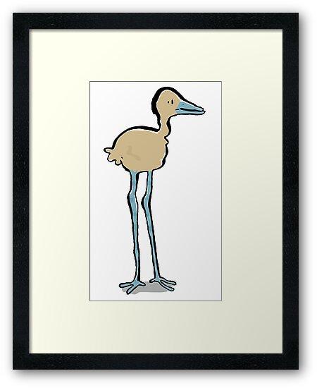 long legged bird by greendeer