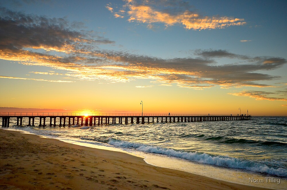 Dromana Pier at Sunset by Norm Tilley