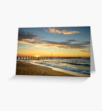 Dromana Pier at Sunset Greeting Card