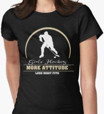 Girls Hockey Women's Fitted T-Shirt