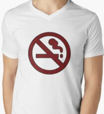 """Marceline's """"Don't Smoke"""" Shirt Men's V-Neck T-Shirt"""