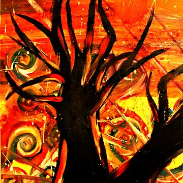 Abstract acryllic tree painting by K3LLIE3