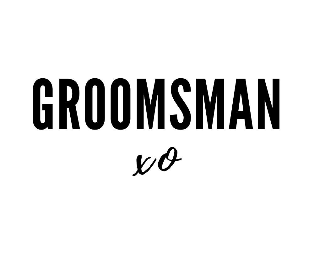 Groomsman xo by Red-Arrow