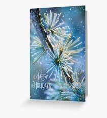 Snow on the Larch Holiday Card Greeting Card