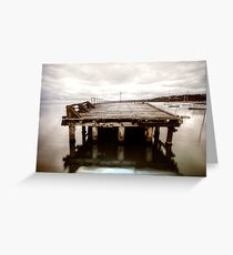 The end of the Mornington Pier? Greeting Card