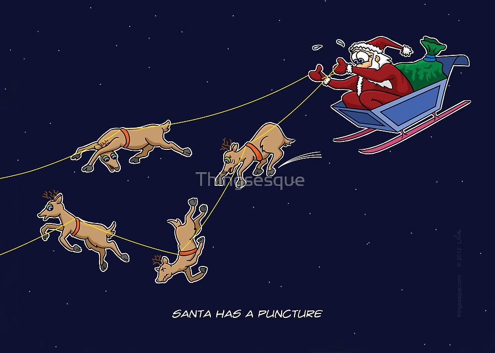 Santa Puncture by Thingsesque