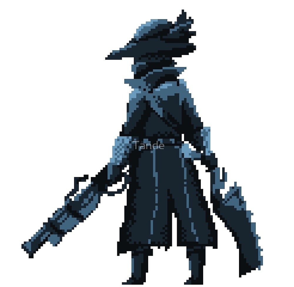 pixel souls   bloodborne by tande redbubble