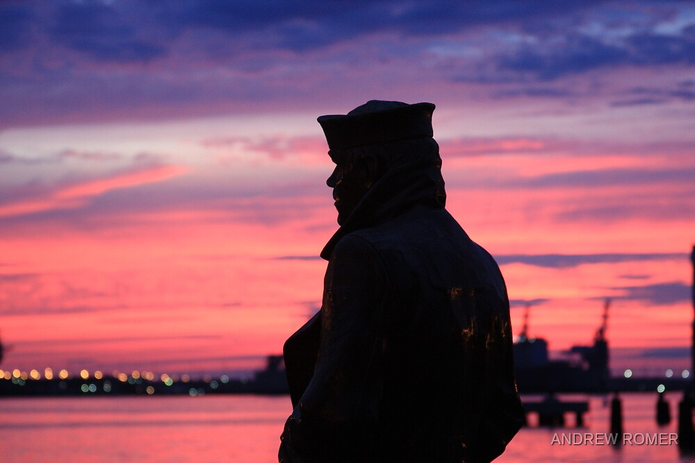 Lone Sailor by ANDREW ROMER