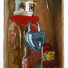 Trompe L'oeil - Locked Heart by Laura Guzzo