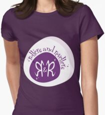 Rollers and Revellers logo - for getting our proud on! Womens Fitted T-Shirt