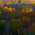 Natural Bridge in Autumn by Kent Nickell