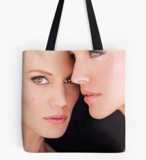 Tricia Helfer and Katee Sackhoff by Dennys Ilic Photography Tote Bag