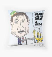 Viktor Orban caricature politique Throw Pillow