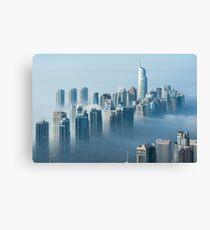 Jumeirah Clouds Towers Canvas Print