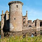 The Tower at Caerlaverock Castle by Sue Knowles