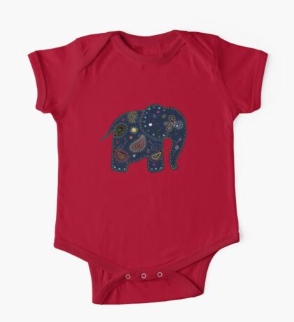 blue embroidered elephant Kids Clothes