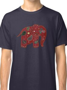 Red embroidered elephant Classic T-Shirt