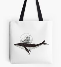 Ships and whales Tote Bag