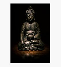 Light Painted Buddah Photographic Print