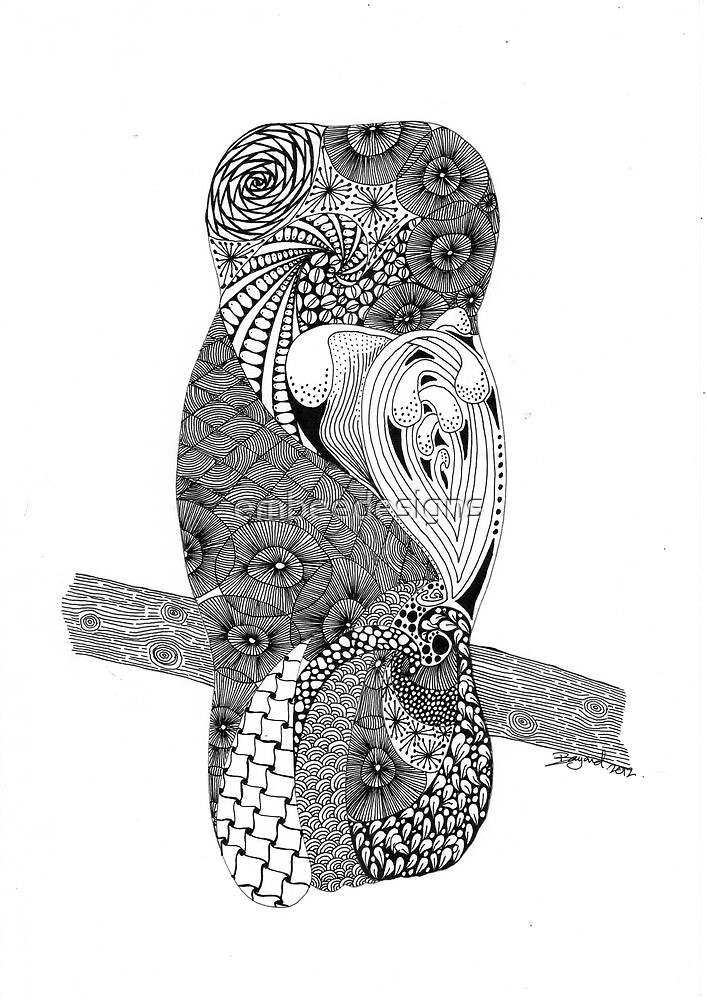 moon gazing owl by embeedesigns