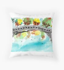Bow Bridge Throw Pillow