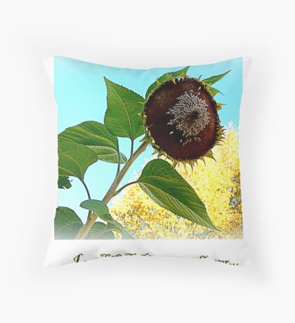 I see LOVE in every flower... Throw Pillow