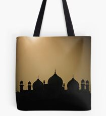silhouette of minarets and dome  Tote Bag