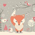 Christmas baby fox 03 by BlueLela