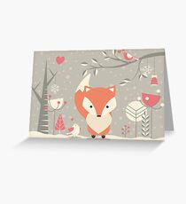 Christmas baby fox 03 Greeting Card